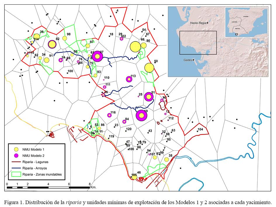 Modelado geográfico de la agricultura romana. Vegetación de ribera y ...