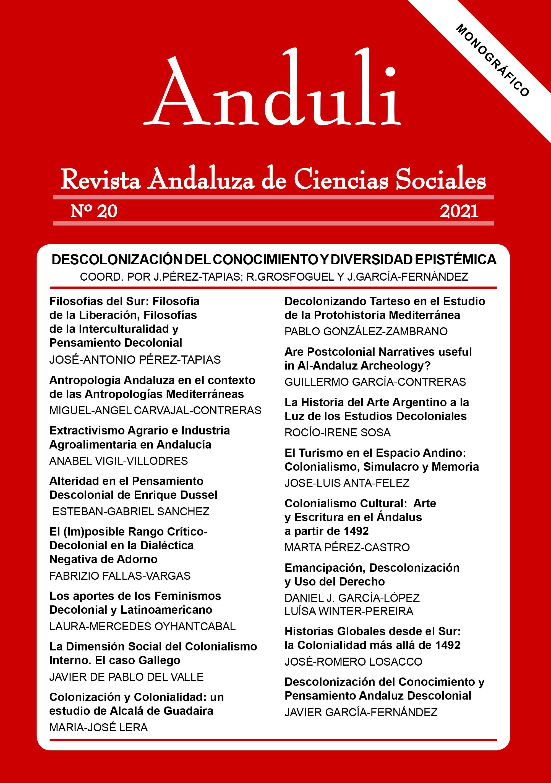 Ver Núm. 20 (2021): DESCOLONIZACIÓN DEL CONOCIMIENTO Y DIVERSIDAD EPISTÉMICA.  Coord.: J.A.Pérez-Tapias, R.Grosfoguel y J.García-Fernández